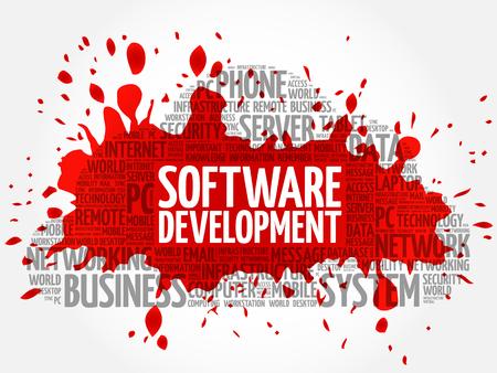 erp: Software development word cloud concept