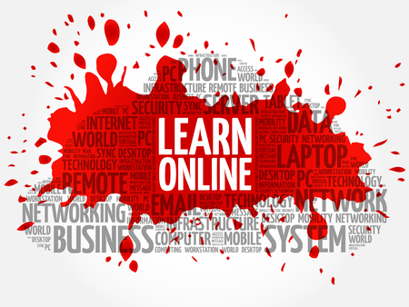Learn Online word cloud concept