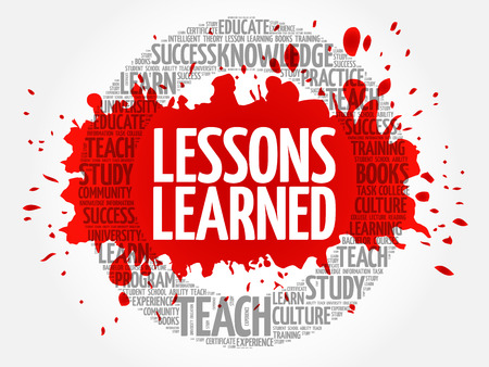 Lessons Learned word cloud, education concept