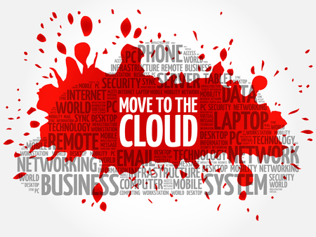 Move to the Cloud word cloud concept