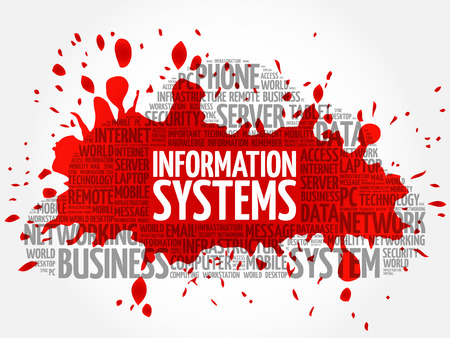 Information Systems word cloud concept Illustration