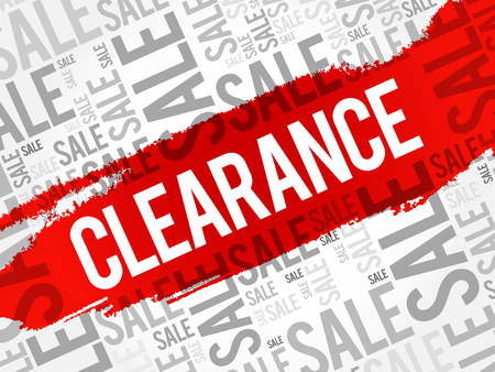Clearance sale words cloud, business concept background Çizim