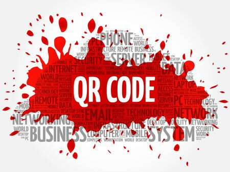 QR code word cloud concept