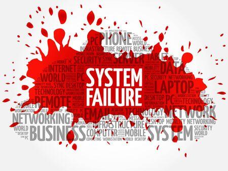 System Failure word cloud concept Illustration