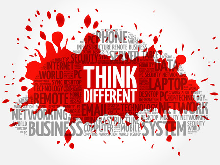 Think Different word cloud concept