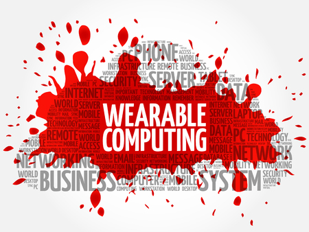 Wearable Computing word cloud concept Illustration