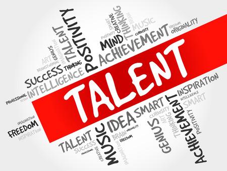supervise: Talent word cloud, business concept