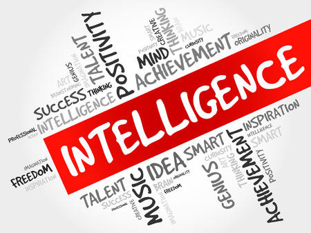 inteligent: Intelligence word cloud, business concept