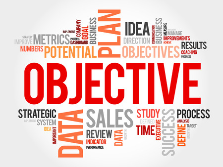 relationsip: Objective word cloud, business concept background