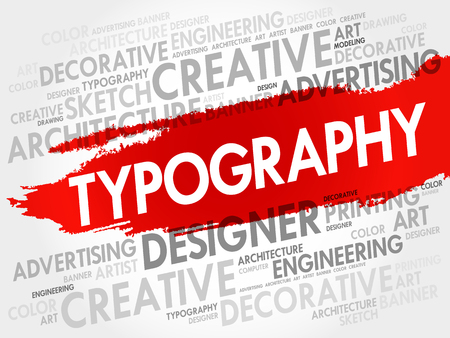 TYPOGRAPHY word cloud, creative business concept background Illustration