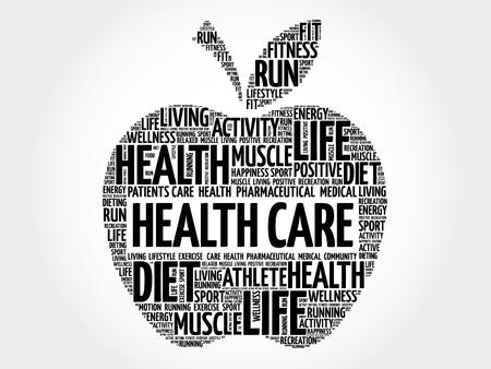 preventive: Health care apple word cloud concept Illustration