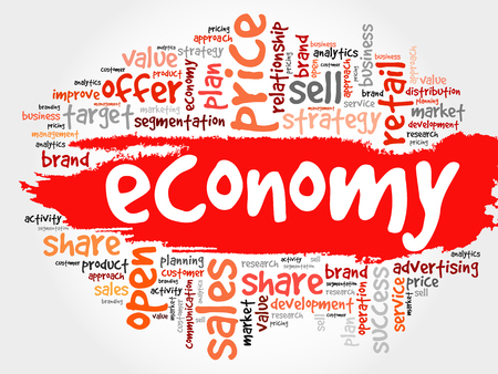 ECONOMY word cloud collage, business concept