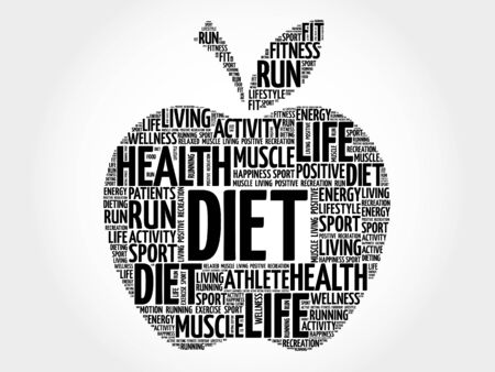 Diet apple word cloud concept