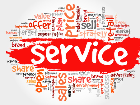 maintainability: SERVICE word cloud collage, business concept background