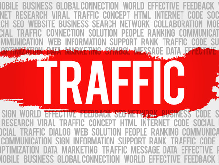 popularity: TRAFFIC word cloud, business concept Illustration