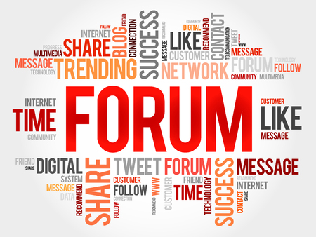 podcasts: Forum word cloud, business concept