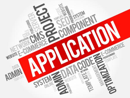 Application word cloud, business concept Illustration