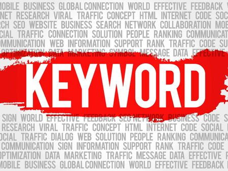 spamdexing: KEYWORD word cloud collage, business concept background
