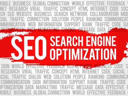 metasearch: SEO (search engine optimization) word cloud collage, business concept background
