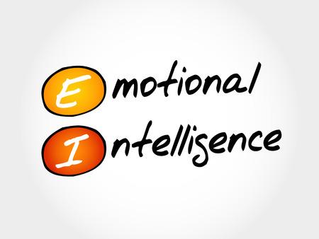 ei: EI - Emotional Intelligence, acronym business concept