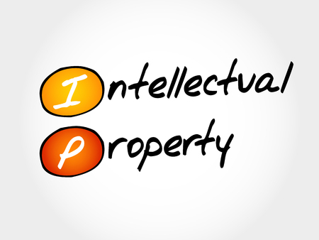 IP - Intellectual Property, acronym business concept Illustration