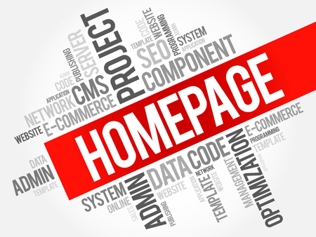 asp: Homepage word cloud, business concept