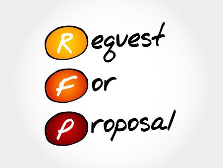 smart goals: RFP - Request For Proposal, acronym business concept
