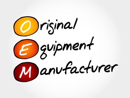 OEM Original Equipment Manufacturer, acroniem concept Vector Illustratie