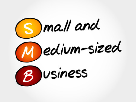 employed: SMB - Small and Medium-Sized Business, acronym business concept Illustration