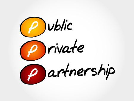 ownership equity: PPP - Public-private partnership, acronym business concept Illustration