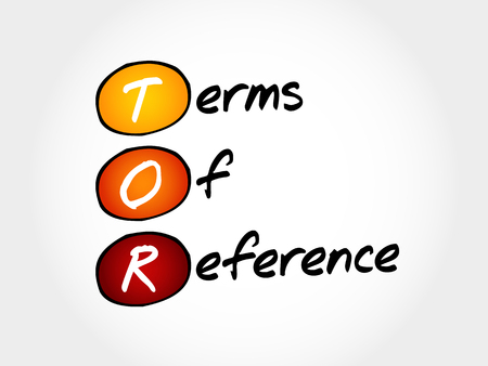 TOR - Terms of Reference, acronym business concept Illustration