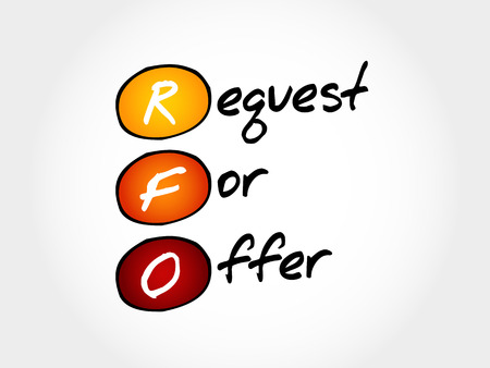 RFO - Request For Offer, acronym business concept