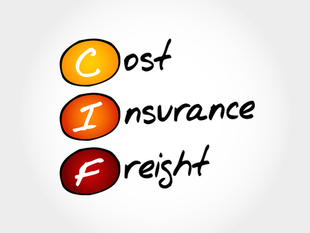 CIF - Cost Insurance Freight, concept commercial acronyme Banque d'images - 73129055