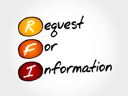 RFI Request For Information, acronym business concept Illustration