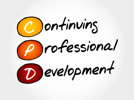CPD - Continuing Professional Development, acronym business concept