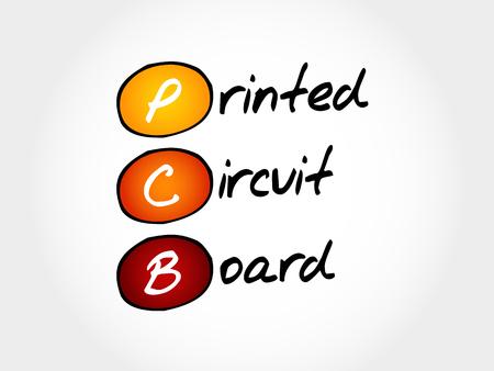 PCB Printed Circuit Board, acronym concept