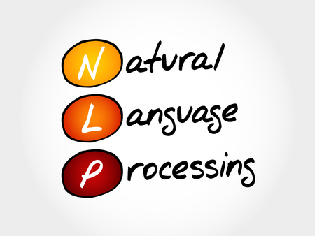 NLP Natural Language Processing, acronym business concept