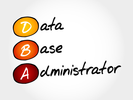 xml: DBA - Database Administrator, acronym business concept Illustration