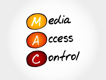 MAC Media Access Control, acronym concept Illustration
