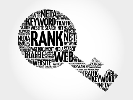 RANK Key word cloud, business concept