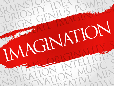 the sixth sense: Imagination word cloud collage, creative business concept background