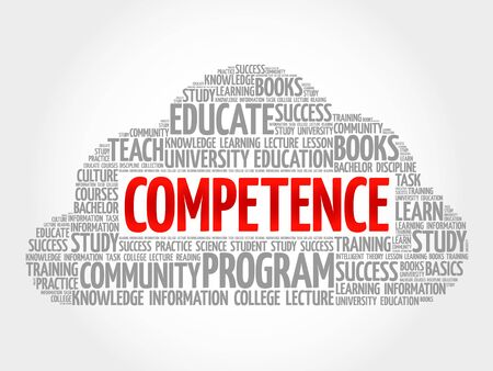 technologys: COMPETENCE word cloud collage, education concept background