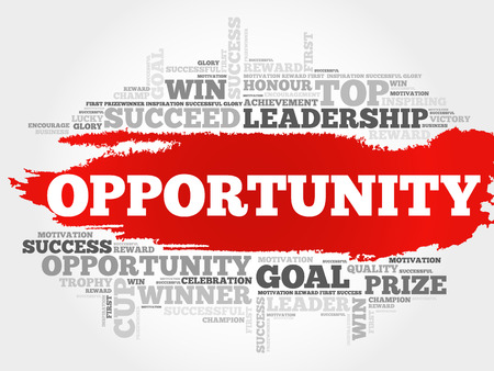 business opportunity: Opportunity word cloud, business concept Illustration