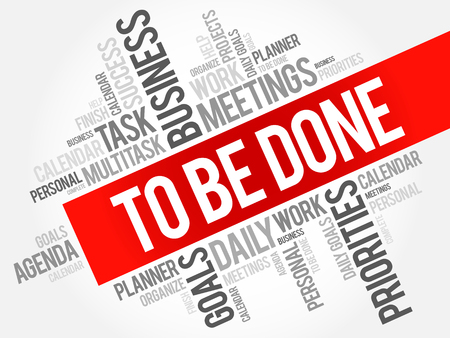To Be Done word cloud business concept
