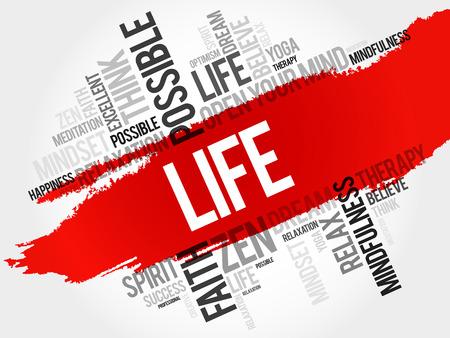 Life word cloud concept Illustration