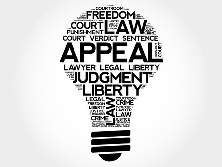 affirmative: Appeal bulb word cloud collage, concept background