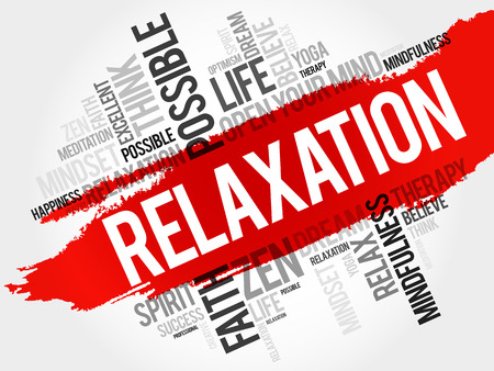 spa collage: Relaxation word cloud collage, concept background Illustration