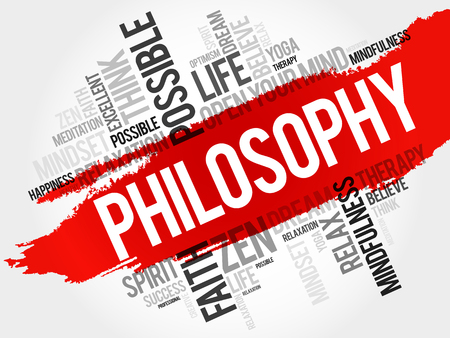 Philosophy word cloud collage, concept background