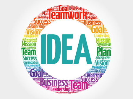 Idea circle word cloud, business concept Illustration