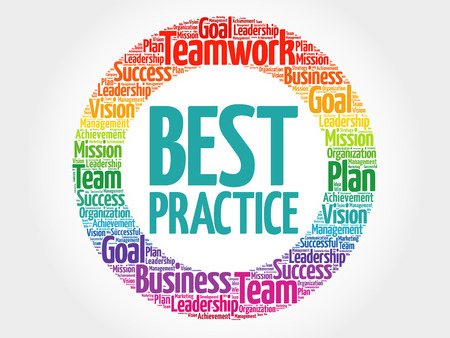 Best Practice circle word cloud, business concept Vettoriali
